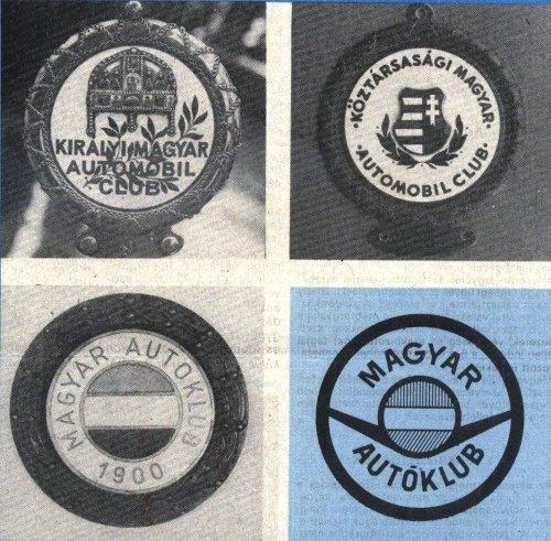 Autóklub emblémák