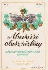 Abasári olaszrizling italcímke