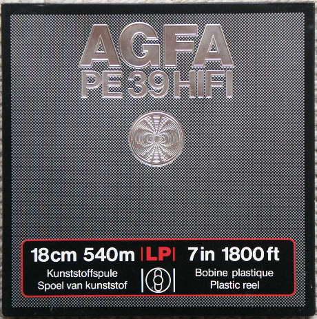 AGFA PE 39 HIFI orsós magnószalag 18 cm - 7 in 1800 ft