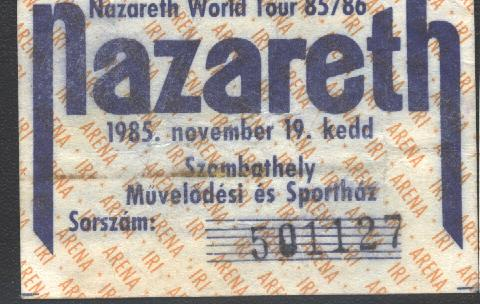 Nazareth koncertjegy