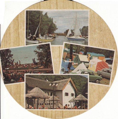 Balatoni kerek képeslap
