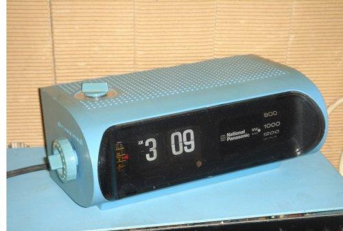 National-Panasonic ejtőszámlapos órás rádió