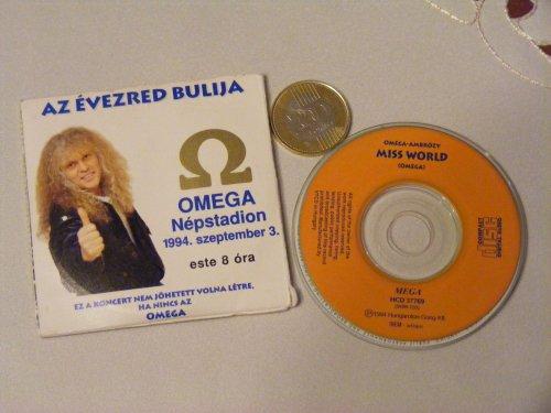 Omega koncertjegy mini CD-vel