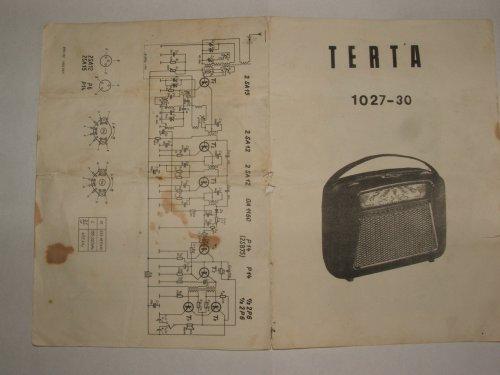 TERTA táskarádió dokumentáció