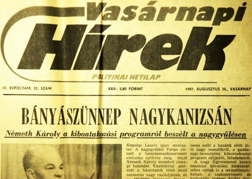 Vasárnapi Hírek 1987