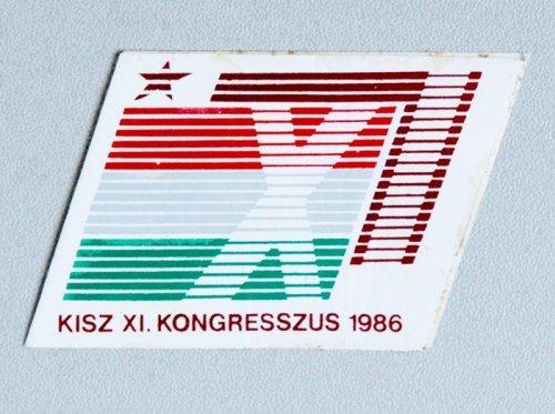 KISZ Kongresszus (1986) matrica