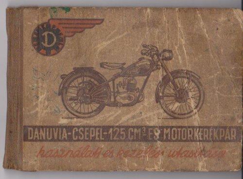 Danuvia - Csepel motorkerékpár gépkönyv