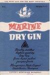 Marine dry gin italcímke