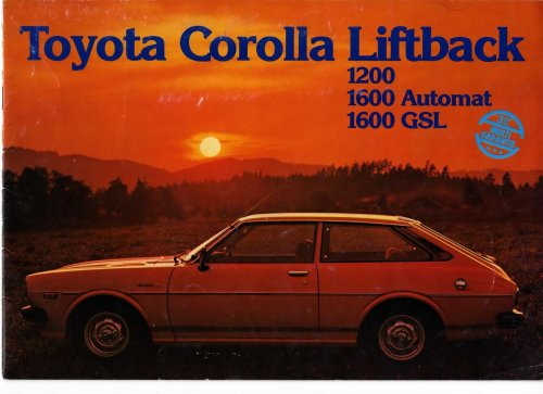 Toyota Corolla E5 prospektus - Svájc 1975 - I