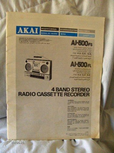 AKAI magnós rádió - használati utasítás