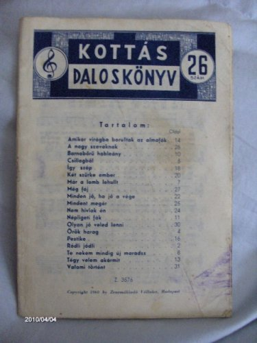 Kottás daloskönyv