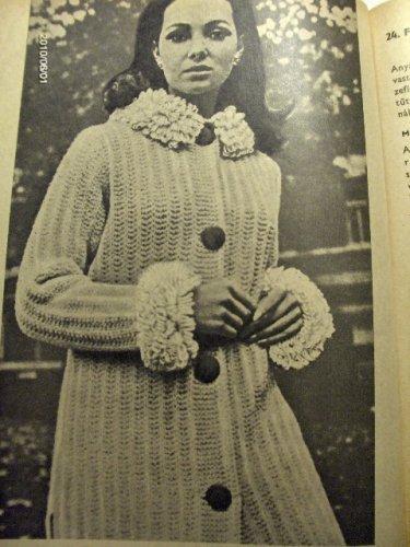 Női divat - horgolt kabát