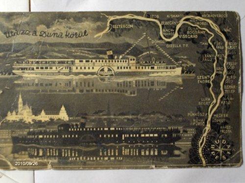 Utazz a Duna körül - képeslap