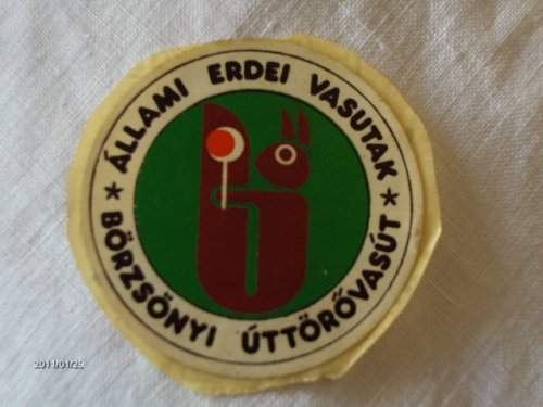 Állami Erdei Vasutak - Börzsönyi Úttörővasút matrica