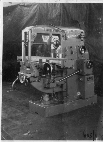 Csepeli Rákosi Mátyás művek szerszámgép