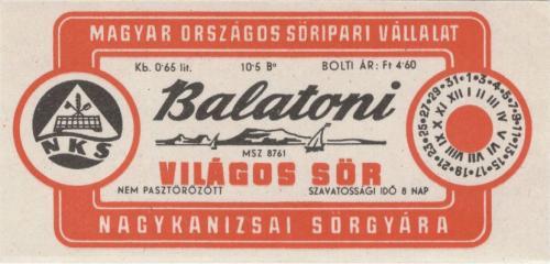 Balatoni világos sör 0,65l