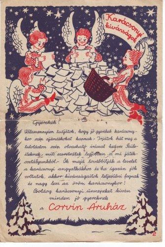 Karácsonyi kívánságok Corvin Áruház