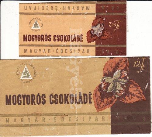 Mogyorós csokoládé csokipapír