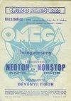 Omega hangverseny plakátja 1970-ből