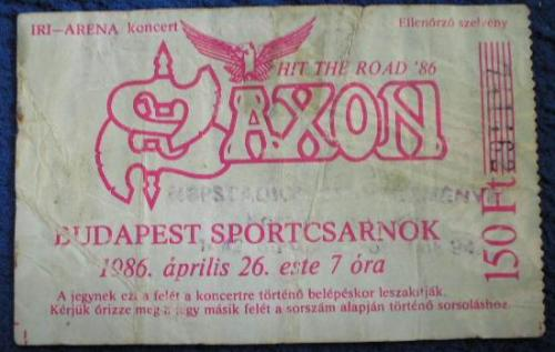 Saxon koncertjegy