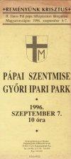 Pápai szentmise Győrben