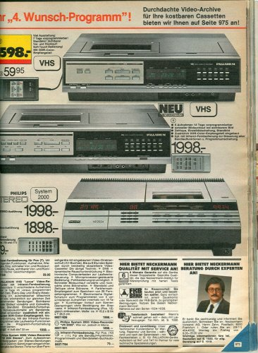 Philips System-2000 videó magnó hírdetése
