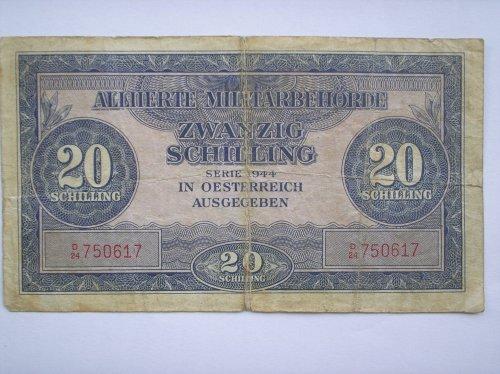 Második Világháborus osztrák bankjegy