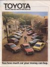 Toyota katalógus - USA 1975