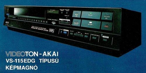 VIDEOTON AKAI VS-115EDG videomagnó
