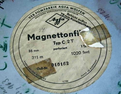 AGFA 35mm filmesdoboz címke