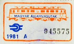 Vasúti igazolvány érvényesítő bélyegek