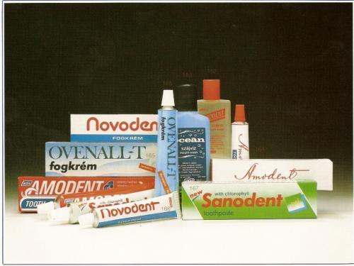 Amodent, Novodent, Ovenall-T, Sanodent fogkrém, Amodent, Óceán szájvíz