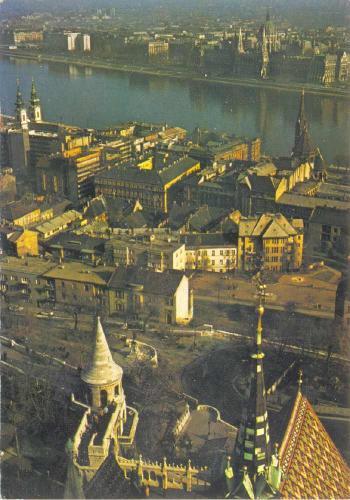 Budapest panoráma Duna képeslap