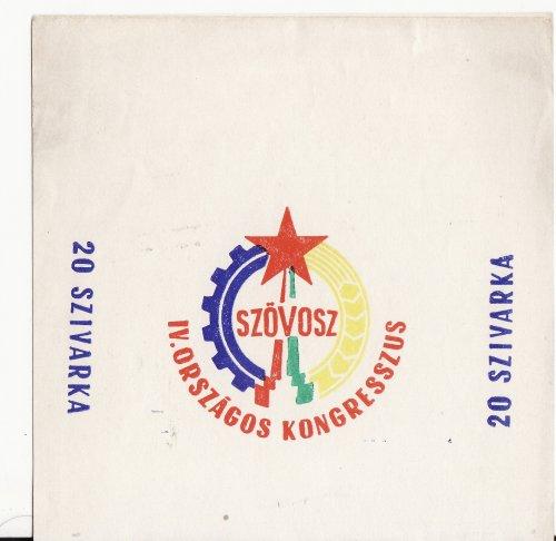 Szövosz kongresszus cigaretta