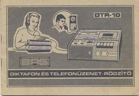 BRG DTR-10 diktafon és telefonüzenet rögzítő kezelési útmutató
