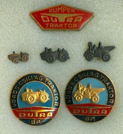 Dutra traktor - Vörös Csillag Traktorgyár jelvények