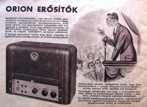 Orion rádióerősítő - 16 W-os