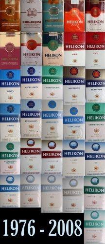 Helikon cigaretta gyűjtemény