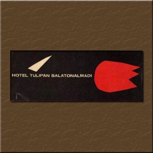 Balatonalmádi Hotel Tulipán  bőröndcímke