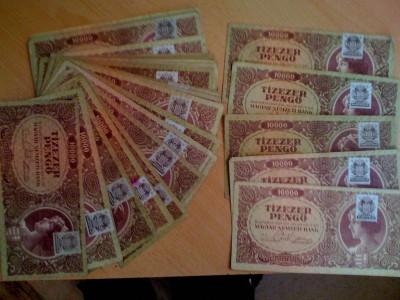 Tízezer Pengő mind bélyeges