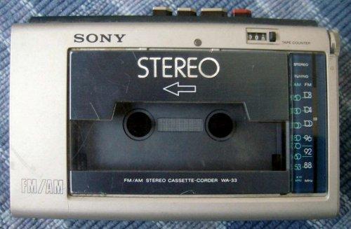 Sony FM/AM Stereo Cassette Corder WA-33