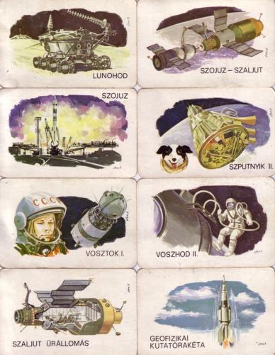 Szovjet űrprogram kártyanaptár