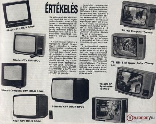 Videoton Orion televíziók