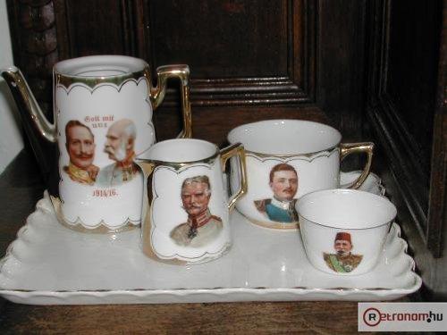 Kávéskészlet első világháborús személyiségek kép