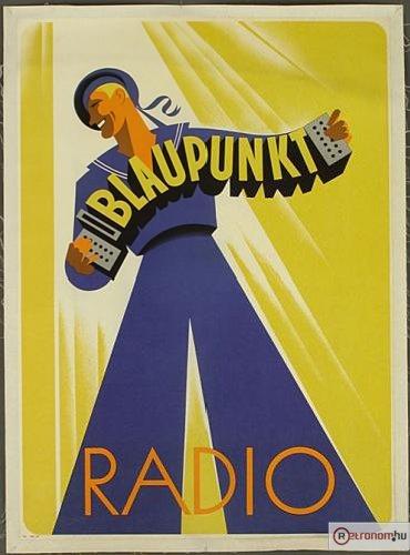 Blaupunkt rádió plakát