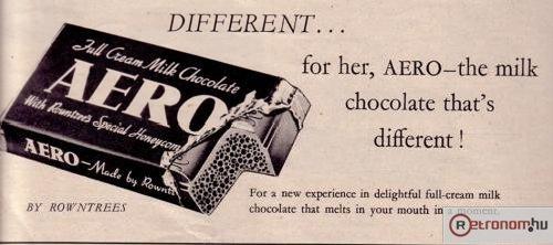 Aero csokoládé lyukas