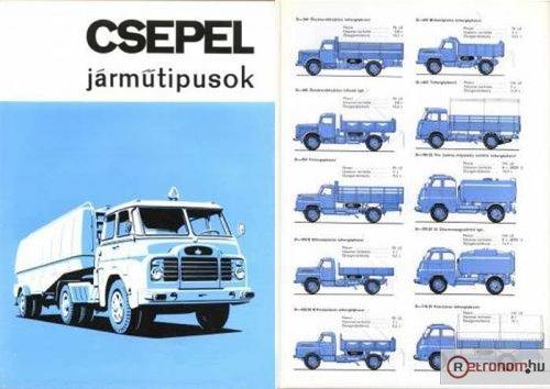 Csepel teherautó típusok