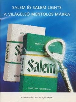 Salem cigeretta hírdetés