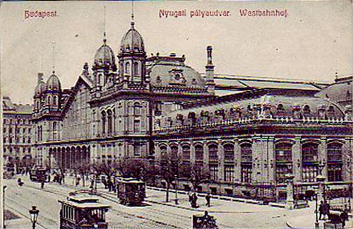 Nyugati pályaudvar képeslap
