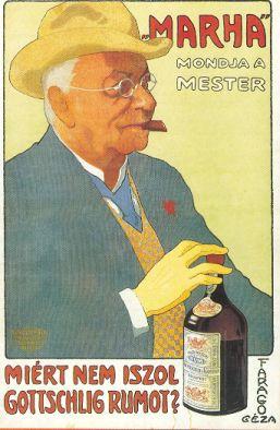 Gottschlig rum plakát képeslap